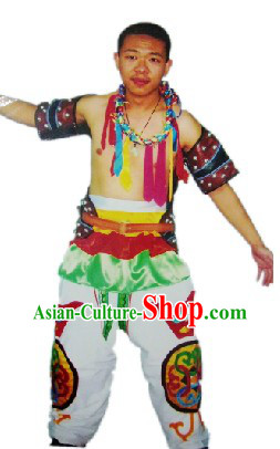 Mongolian Wrestling Costume Complete Set for Men