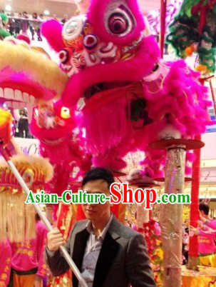 Friendly Chinese Year Supreme Grand Opening and Happy Celebration Lion Dance Costume Complete Set