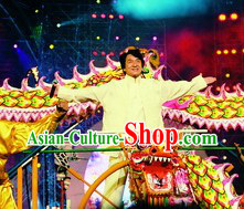 Happy New Year Celebration Supreme Luminous Dragon Dancing Costumes Complete Set