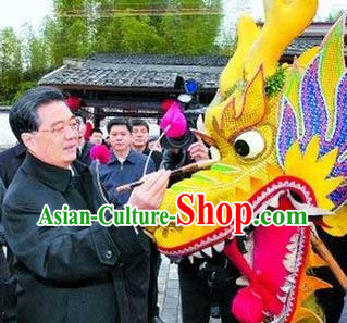 Traditional Festival Celebration Competition and Parade Peking Dragon Dance Costumes Complete Set