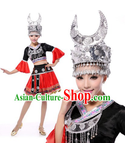 Traditional Miao Clothes and Headwear for Women
