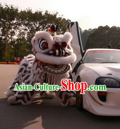 Pure White Sheep Fur Hok San Lion Dance Clothing Complete Set