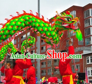 Competition and Celebration Green Dragon Dance Costume for Adults