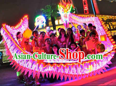 Classic Luminous Dragon Dance Head and Costume Complete Set