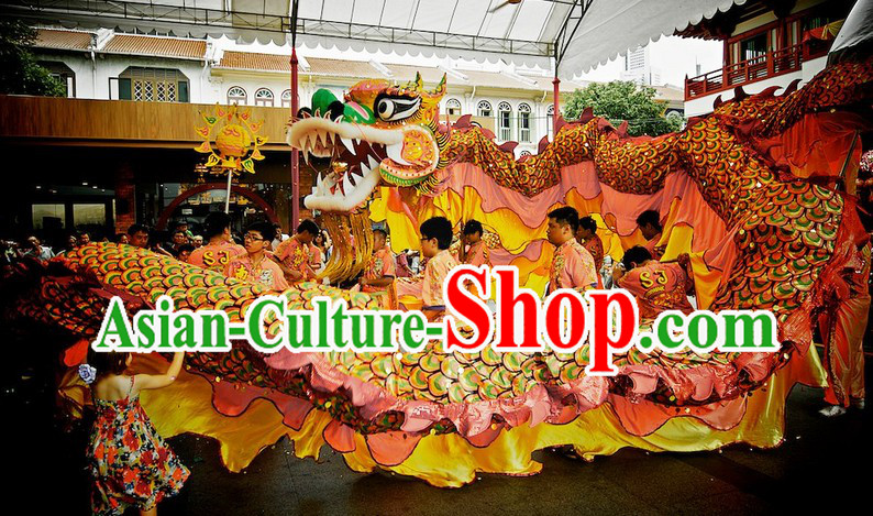 Chinese Horse Year Big Celebration Southern Dragon Dance Costume Complete Set
