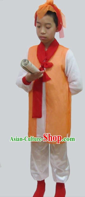 Ancient Chinese Stage Performance Student Costumes for Kids