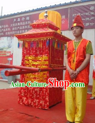 Human Size Chinese Traditional Handmade Wedding Sedan
