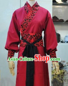 Ancient Chinese Red Knight-errant Costumes