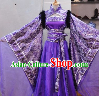 Ancient Chinese Purple Empress Costumes for Ladies