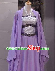 Ancient Chinese Purple Guzhuang for Ladies
