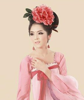 Ancient Tang Dyansty Silk Peony Hair Decoration