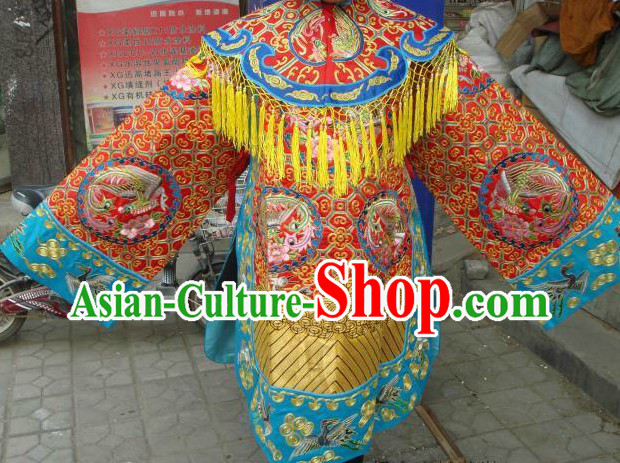 Chinese Classical Peking Opera Embroidered Phoenix Empress Costumes for Women