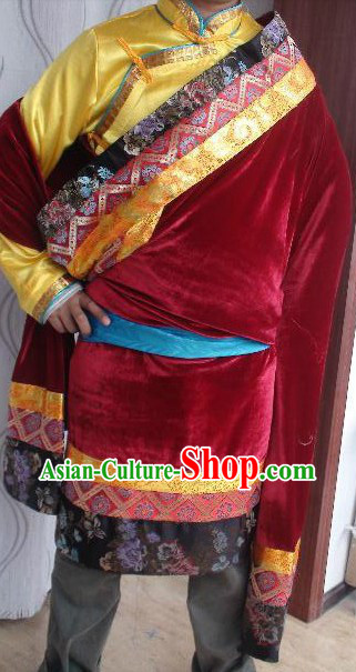 Traditional Tibetan Daily Robe for Men