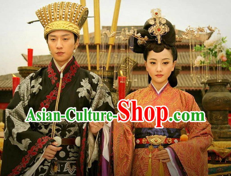 Ancient Chinese Bridal Hat and Hair Styles for Men and Women