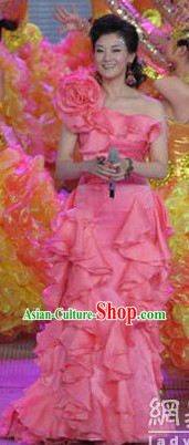 Chinese Pink Singer Costume for Women