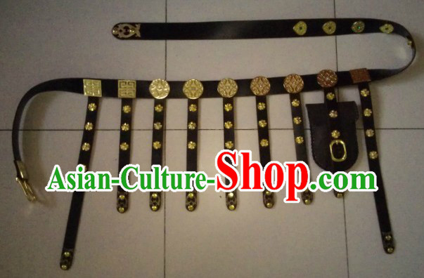 Chinese Tang Dynasty Handmade Hanfu Clothing Belt for Men