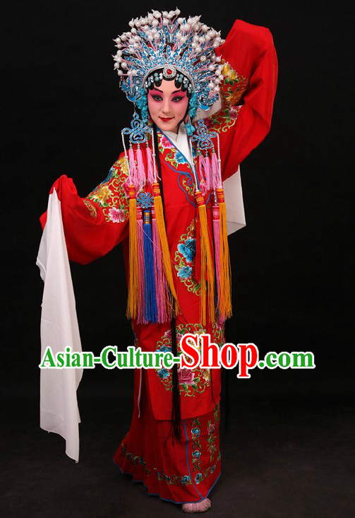Traditional Chinese Bridal Embroidered Flower Wedding Dress