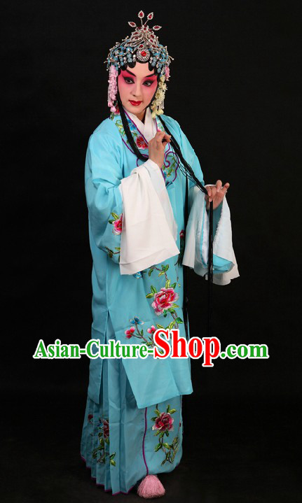 Beijing Opera Hua Dan Long Sleeve Robe and Skirt for Women
