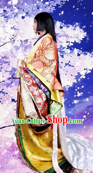 Ancient Japanese Princess Kimono Costumes Complete Set for Women
