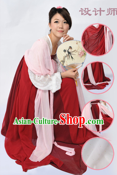 Ancient Chinese Tang Dynasty Guzhuang Clothing for Women