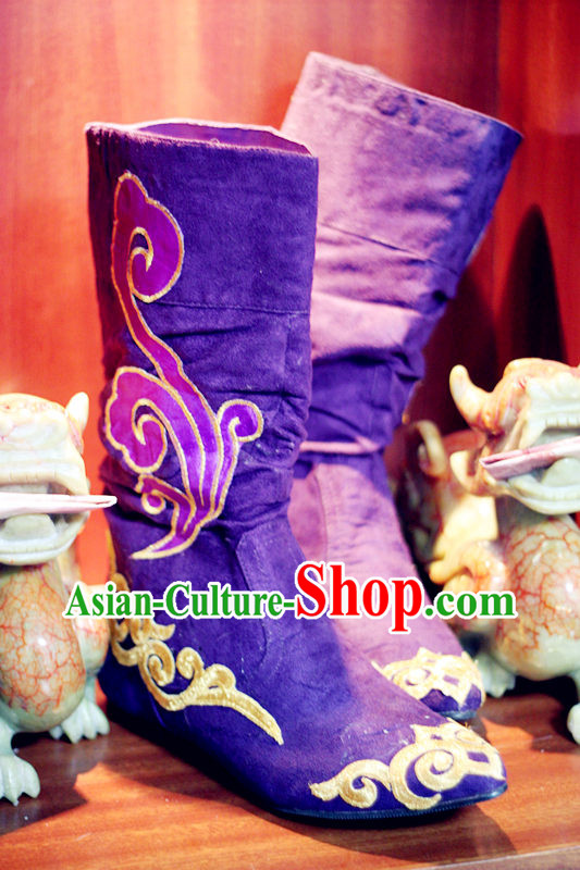 Ancient Chinese Classic Han Fu Long Boots