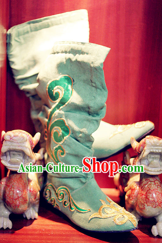 Ancient Chinese Classical Guzhuang Long Boots