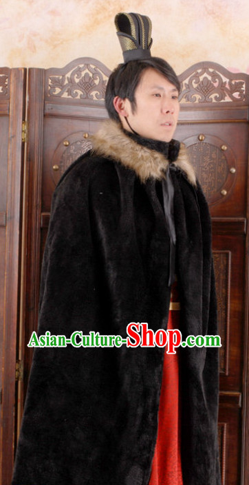 Ancient Chinese Black Cape for Men