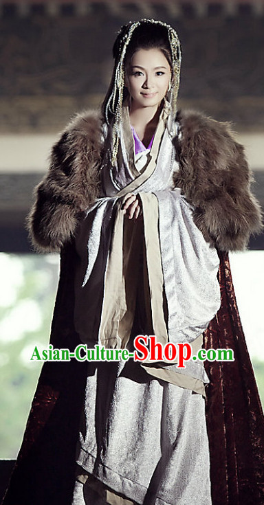 Ancient Chinese Han Empress Costumes Complete Set