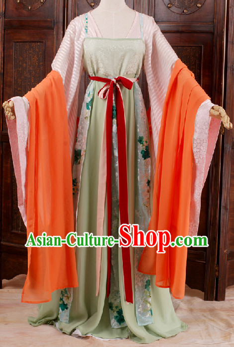 Ancient Chinese Tang Dynasty Clothing for Girls