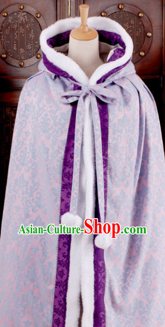Traditional Chinese Purple Hanfu Cape for Women