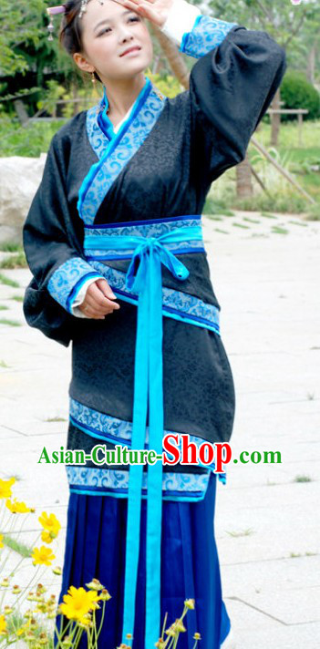 Ancient Chinese Han Dynasty Clothing for Ladies