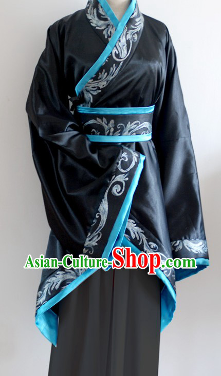 Ancient Chinese Black Skirt Clothing for Women