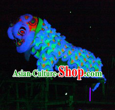 Luminous Supreme Business Promotion and Celebration Lion Dance Costume Complete Set