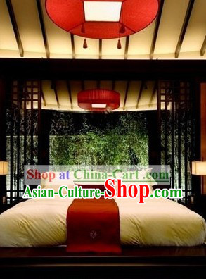 Traditional Chinese Red Round Ceiling Lantern