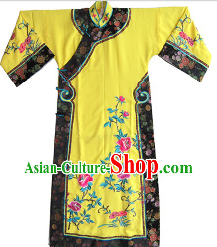 Traditional Chinese Opera Manchu Qing Dynasty Cheongsam Qipao for Women