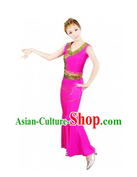 Chinese Dai Ethnic Dancing Costume for Women