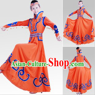 Traditional Chinese Mongolian Dance Costumes for Women