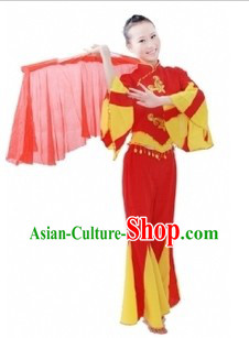 Traditional Chinese Fan Dancing Costume for Women