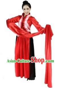 Long Sleeve Chinese Classical Dancing Costumes for Women