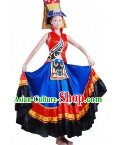 Chinese Yi Tribe Clothing and Hat for Women