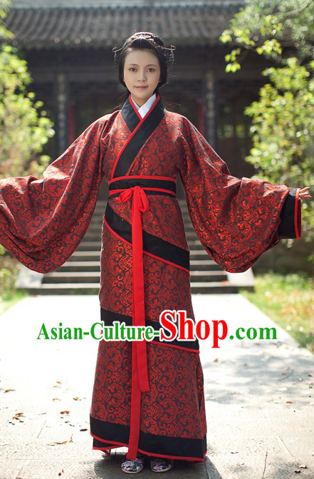 Ancient Chinese Red Clothing for Women