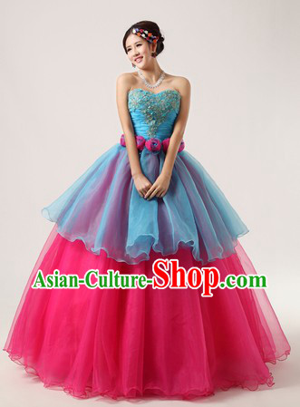 Chinese Modern Solo Competition Dresses for Women