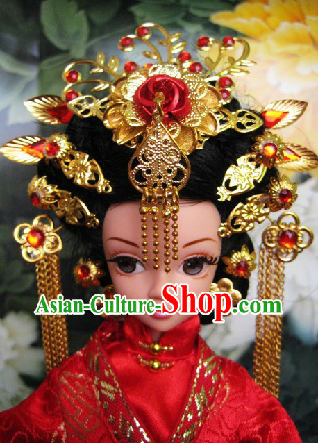 Ancient Chinese Wedding Hair Accessories Complete Set