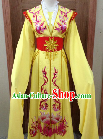 Ancient Chinese Opera Yellow Dan Costumes for Women