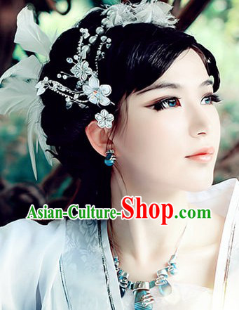 Ancient Chinese White Flower Hair Accessories