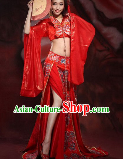 Traditional Ancient Chinese Sexy Dancer Butterfly Costumes