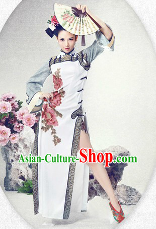 Traditional Chinese Style Qipao Clothing and Hair Accessories for Women