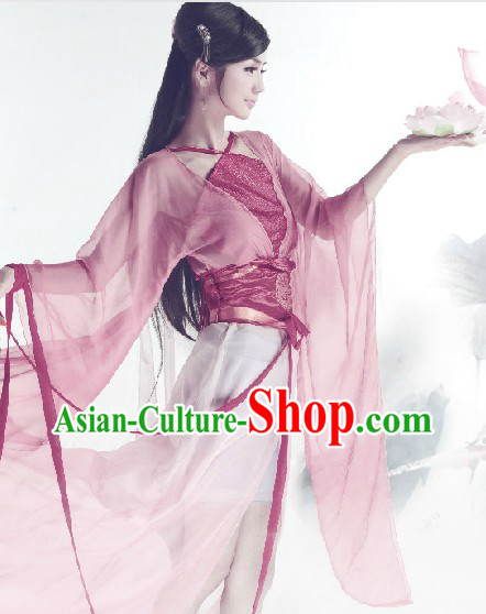 Traditional Ancient Chinese Pink Lady Clothing