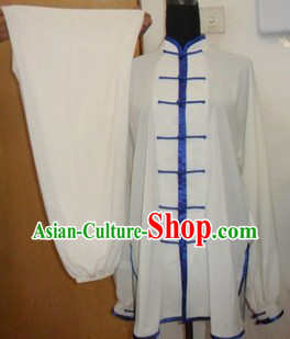 Traditional Chinese White Silk Kung Fu Tai Chi Clothing