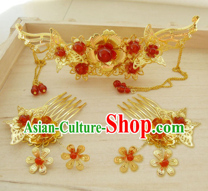 Ancient Chinese Bride Wedding Hair Accessories for Women